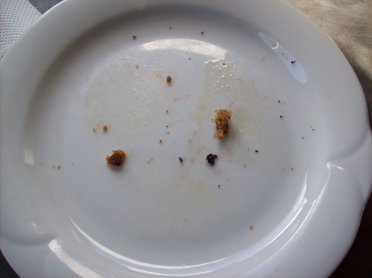 Brookies empty plate